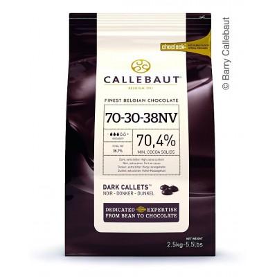 Horká čokoláda Callebaut 70,4% 2,5 kg + 250g kakaového masla